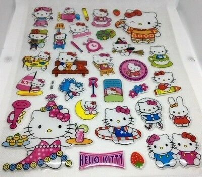 YH-003 3D HELLO KITTY 3D Bubble Reward Sticker Decal Label Children Kid Teacher