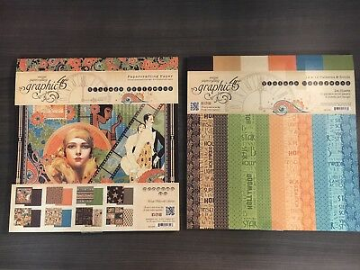 Graphic 45 Vintage Hollywood 12 x 12 Patterns and Solids Paper Pad 4501534 2017