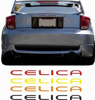 Toyota Celica MK7 T230 1.8 VVTL 1999 - 2006 rear Inlay Badge Decal Sticker GT SE