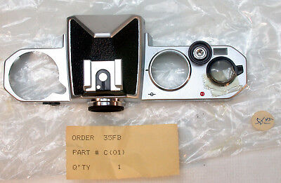 Nikon FE Top Cover Assy. Chrome Part # 35FB-C-(01) New Old Stock