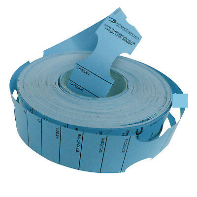 Metal Detectable Keyhole Tags Blue 50x279mm Roll 500
