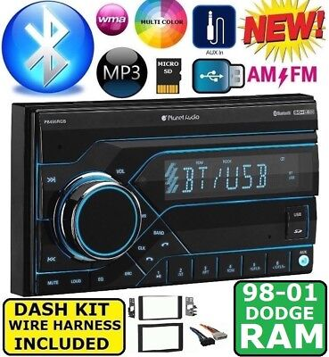 98 99 00 01 Dodge Ram Am/fm Bluetooth Aux Usb/sd Eq Car Radio Stereo Pkg