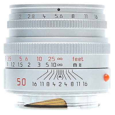 Leica 50mm f2 Summicron-M Lens (Silver), Boxed