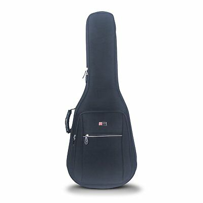 Crossrock CRDG105DBK Deluxe Gig Bag for Dreadnought Acoustic Guitar 25mm Padding