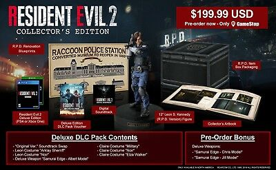 Resident Evil 2 Collector's Edition Gamestop Exclusive PS4 PlayStation 4
