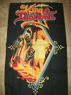 king diamond flag banner rare mercyful fate venom  slayer  sodom metal