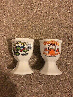 Teenage  Mutant Ninja Turtles  & Garfield egg cups
