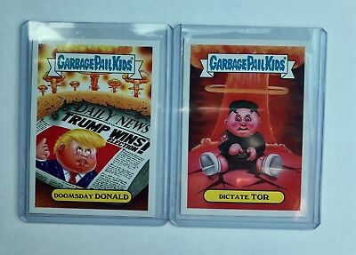 Rare Garbage Pail Kids Collectable Trading Cards: Doomsday Donald / Dictate Tor