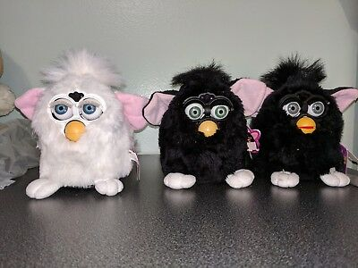 Vintage Original Electronic Furby's Lot Of Three(3) two work
