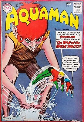 AQUAMAN 10 DC Silver Age 1963 The War of the Water Sprites f/vf