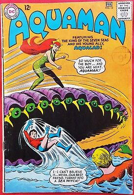 AQUAMAN 13 DC Silver Age 1964 Second appearance of Mera