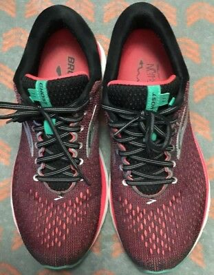 81d16cac02a BROOKS WOMENS GHOST 11 Black Pink Aqua Running Shoes Size 10 (144040 ...