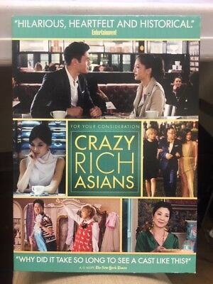 """""""Crazy Rich Asians"""" (For Your Consideration DVD Screener) with Pictures"""