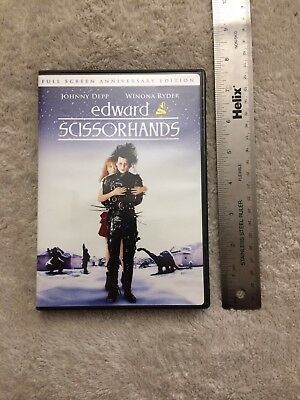 Edward Scissorhands (DVD, 2005, Full Screen Anniversary Edition) Depp Ryder
