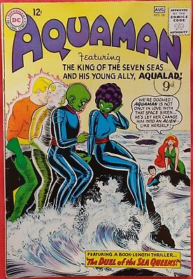 AQUAMAN 16 DC Silver Age 1964 The Duel of the Sea Queens