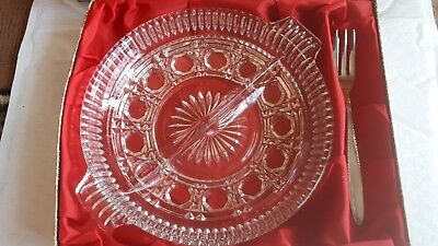 Vintage TABLEMATES split Serving Dish In Box With fork