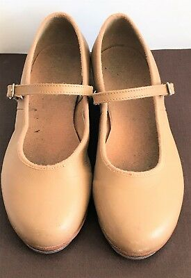 Bloch Girls Size 13.5 N Nude Mary Jane Tap Shoes