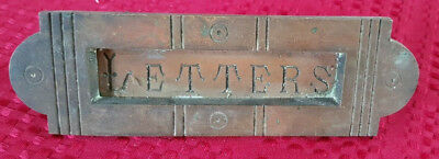 Brass Letter Box Plate / Mail Slot Working Spring Hinges for Door