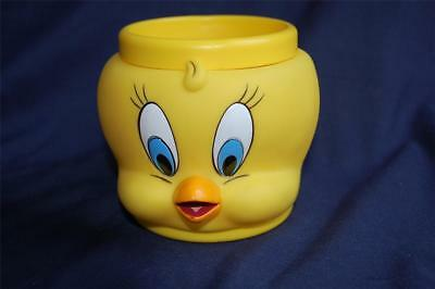 1992 Looney Tunes Tweety Bird 3D Plastic / Vinyl Mug Cup Promotional Partners