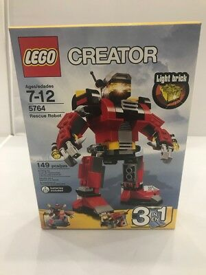 LEGO CREATOR 5764 Rescue Bot 149 pcs Building Toy - New Sealed 4610932