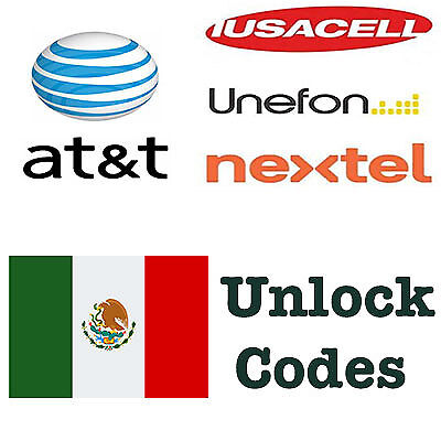 Unlock Code AT&T Mexico Nextel Iusacell Unefon Samsung Huawei LG Alcatel ZTE All