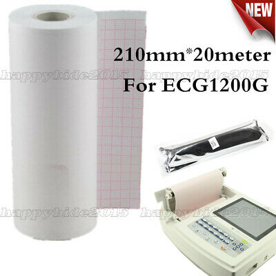210mm*20m 1 pcs Thermal Printer Paper for 12-Channel ECG/EKG Electrocardiograph
