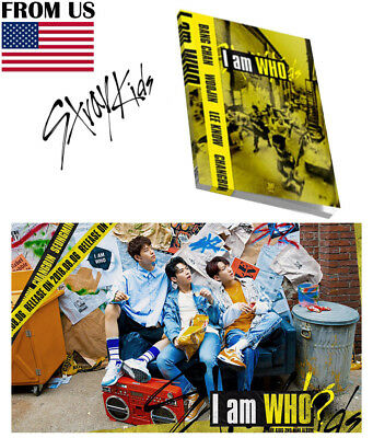 STRAY KIDS I am WHO 2nd Album [WHO ver.] CD+Booklet+Photocard+Lyrics Poster+Gift