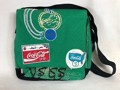 Coca Cola Messenger Crossbody Bag Laptop Green China Large
