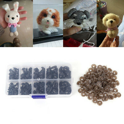 100pcs/Box 5size Plastic Safety Nose Triangle For Doll Animal Puppet Making DIY