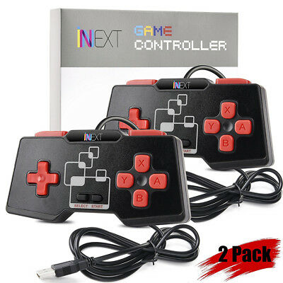 2PCS SNES Retro USB Wired Controller Gamepad Joystick for PC/MAC Free Shipping