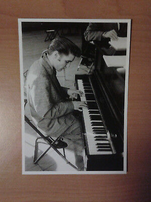 Elvis Presley Relaxing At The Piano New York City,june 1956  Photo Card