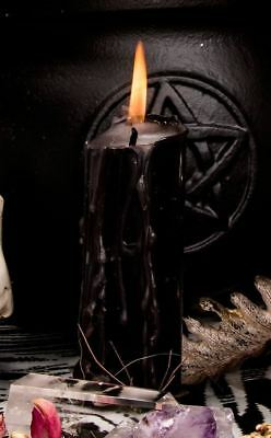 "Aether Black Ritual Spell Candle - 4"" Witch Wicca Pillar Candle"