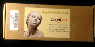 Clay Sculpting Tools---30 Pcs--Ezykoo--Wax, Soap Carving, Polymer, Crafts