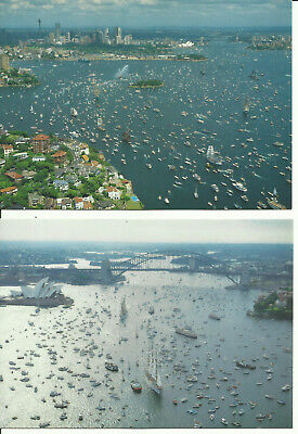 Two Australia Postcard - First Fleet Re-Enactment, Sydney, NSW, Australia, 1988