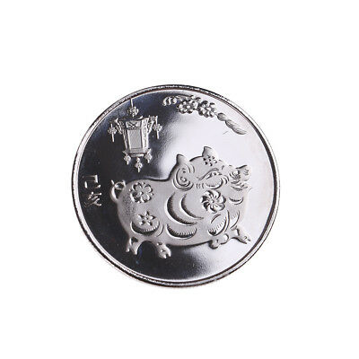 The year of the pig silver chinese zodiac 2019 anniversary coins souvenir coin 、