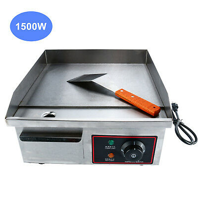 AU-Thermomate Electric Griddle Grill BBQ Hot Plate Commercial Stainless Steel