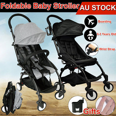 Lightweight Baby Stroller Pram Pushchair Jogger Easy Fold Travel Carry on Plane