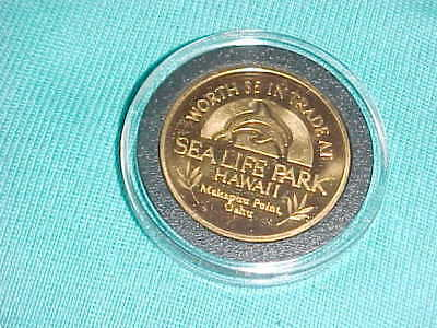 VINTAGE SEA LIFE PARK HAWAII TOKEN worth $5.00 in trade Makapuu point Oahu