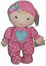 NWT Carters Child Of Mine My First 1st Doll Pink Heart Pjs Plush Rattle Baby Toy