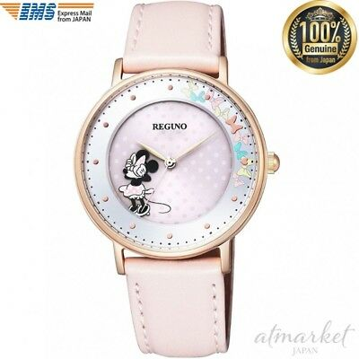 Citizen REGUNO Disney Collection KP3-163-10 Minnie mouse Womens Watch New in Box