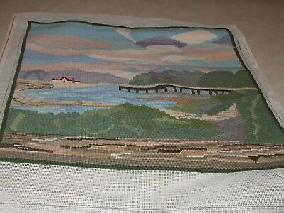 Completed Tapestry Water Scene
