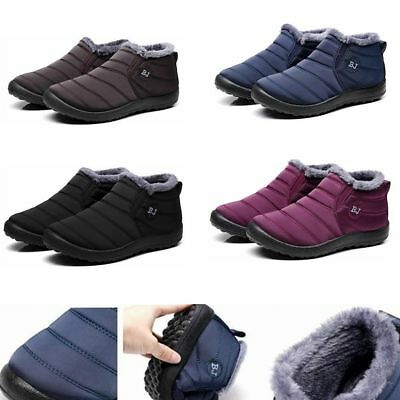 Mens Snow Boots Winter Warm Thermal Ski Fur Lined Non Slip Showerproof Boots