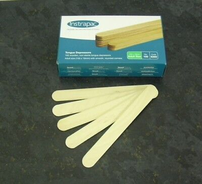 Wooden Tongue Depressor Tattoo Waxing. Adult Size. Quality UK manufacturer.