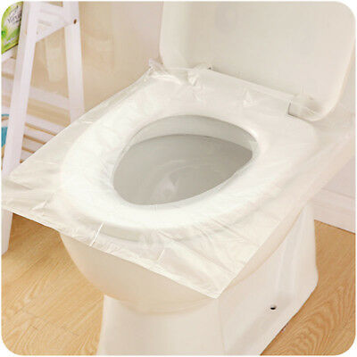 6pcs/set Disposable Travel Safety PE Plastic Toilet Seat Cover Mat portable _T