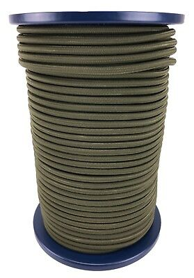 12mm Olive Khaki Elastic Bungee Shock Cord, Bungee Rope Tie Down Extra Strong