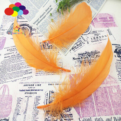100 Pcs Goose feathers Orange 15-20 Cm/6-8 Inch Diy Stage Props Decor Headress
