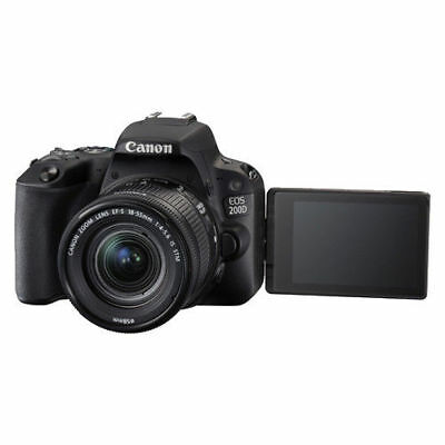 Nuevo Canon EOS 200D with EF-S 18-55mm f/4-5.6 IS STM Lens Kit - Black
