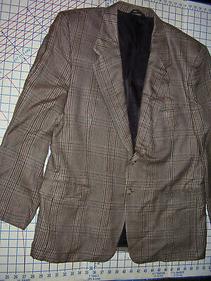 Vintage Mens MEMBERS ONLY Jacket 46R Suit Dinner Sport Coat Retro Tattersall 80s