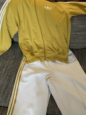 new collection super quality free delivery ADIDAS TRAININGSANZUG HERREN Gr.L Gold/Weiß - EUR 71,99 ...
