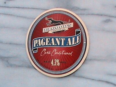 Elgood's Pageant Ale real ale beer pump clip sign